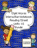 Reading Street Sight Words Interactive Notebook BUNDLE