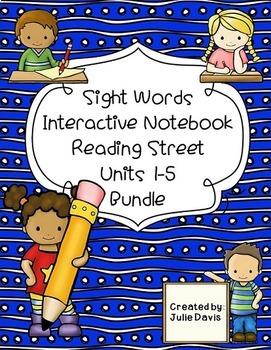 Reading Street Sight Words Interactive Notebook BUNDLE