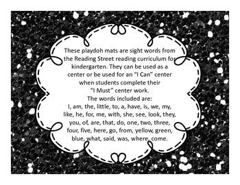 Reading Street Sight Words Playdoh Mats (Kindergarten)
