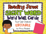 Reading Street Sight Words {Word Wall Cards} {All 192 Words} {EDITABLE}