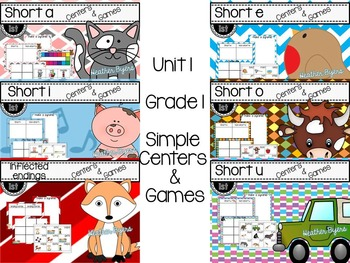 Simple Centers and Games Unit 1 Bundled set