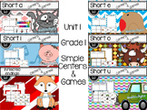 Simple Centers and Games Unit 1 Bundled set