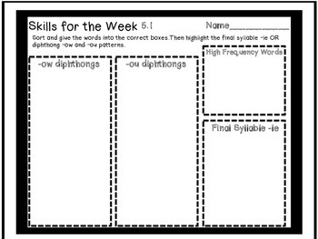 Reading Street Skills Word Work 5.1