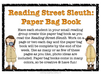 Reading Street Sleuth: Paper Bag Book Project