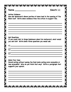 Reading Street Sleuth Questions Grade 3
