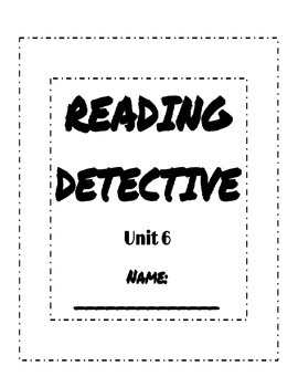 Reading Street Sleuth Unit 6 Reading Detective Booklet