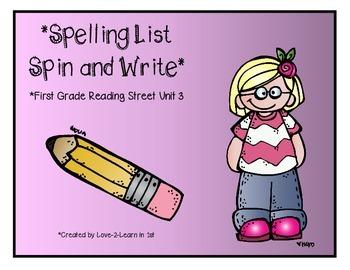 Reading Street Spelling 3