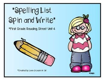 Reading Street Spelling 4