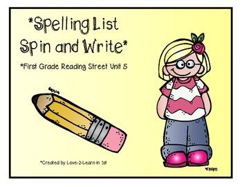 Reading Street Spelling 5