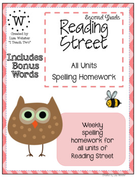Reading Street Spelling Homework