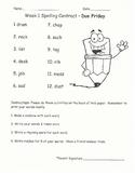 Reading Street Spelling Homework Unit 1