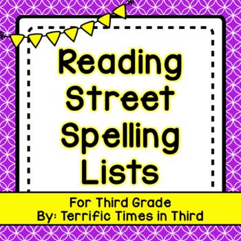 Reading Street Spelling Lists for Third Grade