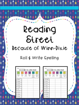 Reading Street: Spelling Roll and Write FREEBIE