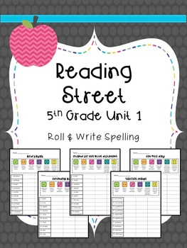 Reading Street: Spelling Roll and Write FULL YEAR BUNDLE for 5th Grade