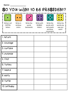 Reading Street: Spelling Roll and Write Unit 2 for 4th Grade