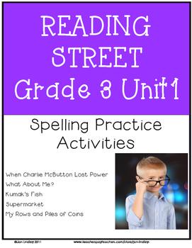 Reading Street Spelling Unit 1 Grade 3
