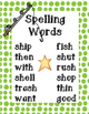 Reading Street Spelling - Unit 2