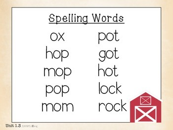 Reading Street Spelling Words First Grade