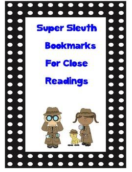 Reading Street: Super Sleuth black and white polka dot bookmarks