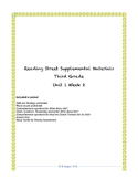 Reading Street Supplemental Materials Grade 3 Unit 1 Week 2