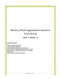 Reading Street Supplemental Materials Grade 3 Unit 1 Week 4