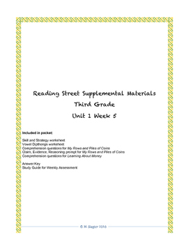 Reading Street Supplemental Materials Grade 3 Unit 1 Week 5