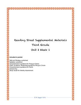 Reading Street Supplemental Materials Grade 3 Unit 2 Week 1