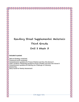 Reading Street Supplemental Materials Grade 3 Unit 2 Week 3