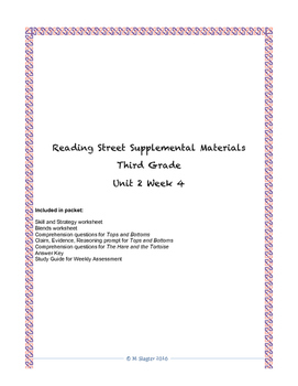 Reading Street Supplemental Materials Grade 3 Unit 2 Week 4