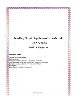 Reading Street Supplemental Materials Grade 3 Unit 3 Week 4