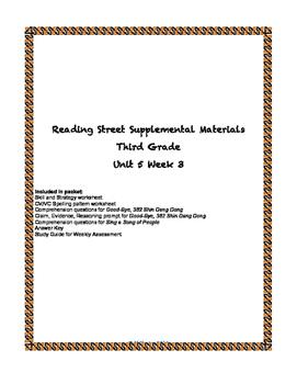 Reading Street Supplemental Materials Grade 3 Unit 5 Week 3