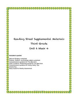Reading Street Supplemental Materials Grade 3 Unit 6 Week 4