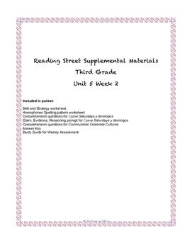 Reading Street Supplemental Materials Grade 3 Unit 5 Week 2