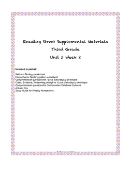 Reading Street Supplemental Materials Grade 3 Unit 5 Week 2