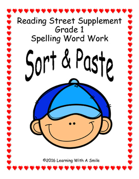 Reading Street Grade 1 SORT AND PASTE  Units 1-5 Spelling Patterns