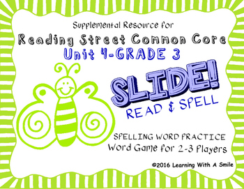 Reading Street THIRD GRADE SPELLING/CHALLENGE U4 Word Game