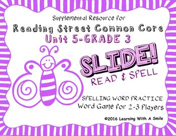 Reading Street THIRD GRADE SPELLING/CHALLENGE U5 Word Game