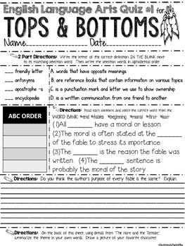 Tops and Bottoms Teacher Pack