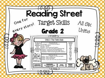 Reading Street  Target Skills Focus Wall for All Six Units Grade Two