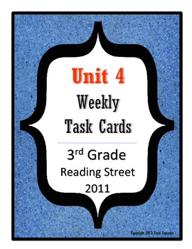 Reading Street Task Cards: Unit 4, 3rd Grade, 2011 edition