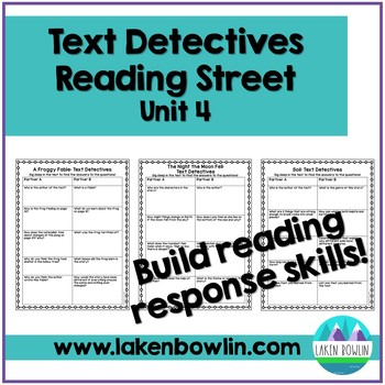 Text Comprehension Questions for Reading Street Unit 6
