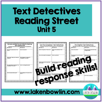 Text Comprehension Questions for Reading Street Unit 5
