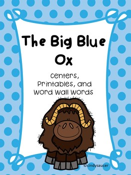 Reading Street, The Big Blue Ox, Centers, Printables, and
