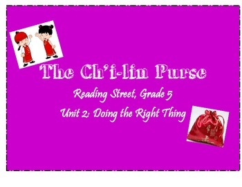 Reading Street: The Ch'i-lin Purse activities, Grade 5, Unit 2