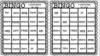 Reading Street: The Class Pet BINGO r-controlled or, ore