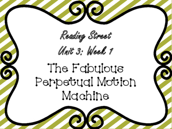 Reading Street: The Fabulous Perpetual Motion Machine Posters Only Pack