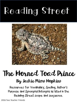 Reading Street The Horned Toad Prince