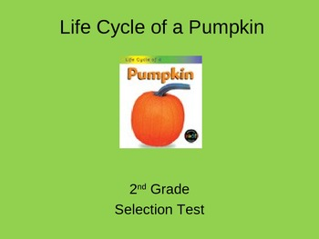 """Reading Street """"The Life Cycle of a Pumpkin"""" Selection Test (Turning Point)"""