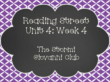 Reading Street: The Stormi Giovanni Club Posters & Activities