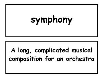 "Reading Street Third Grade ""A Symphony of Whales"" Vocabulary Match Flash Cards"